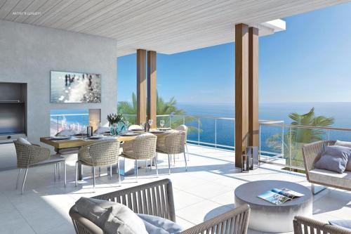 Outdoor Oceanfront Living Space at Ocean Delray